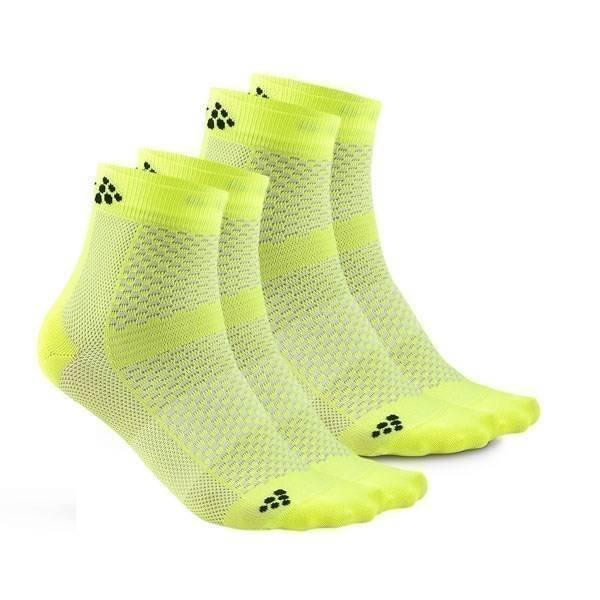 fb32eb897b3 Craft - Ponožky CRAFT Cool Mid 2-pack žlutá