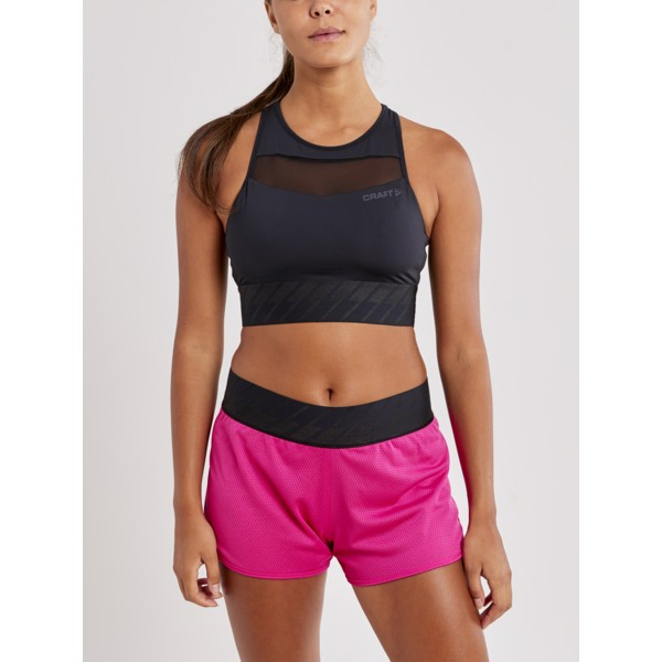 Top CRAFT Charge Cropped Mesh